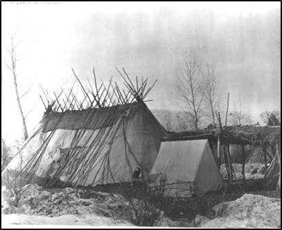 Nimiipuu long house (date unknown)